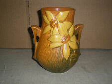 Roseville 103-6 Double Handle Vase Clematis Tuscan