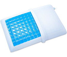 Memory Foam Pillow with Cooling Gel and Washable Case - Standard Size