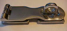 "Hasp SOLID BRASS Chromed Chrome 3"" NOS HASP DOOR HOLDER New Latch padlock"