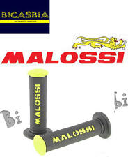 7631 - MANOPOLE MALOSSI GIALLE NERE DM 22/25 CON CHIUSURA A LATO SCOOTER 50