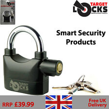 MOTION SENSOR ALARM PADLOCK - SHED GARAGE ALARMED HEAVY DUTY WIRELESS SIREN LOCK