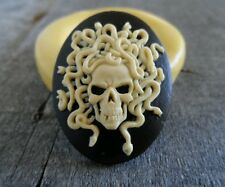 Gothic Medusa Skull cameo silicone push mold mould polymer clay resin USA sell