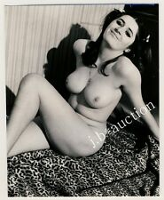 Busty nude WOMAN Reclining/NUDA prosperose lontana * VINTAGE 60s PHOTO FOTO