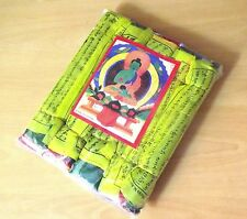 5 in 1 set of LARGE 24 x 14.5 cm Buddhist Tibetan Prayer Flags from Nepal