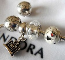 DISNEY LAND WALT DISNEY WORLD BEAD  CASTLE OLAF FROZEN CRYSTAL FREE PANDORA BAG