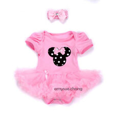 2pcs Newborn Baby Cupcake Girl Headband+Romper Dress Sets Clothing Outfit 3-6M