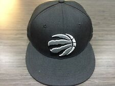Toronto Raptors NBA Basketball Claw Ball Logo Black Silver 59Fifty Hat Cap 7 1/8