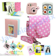 Gmatrix Fujifilm Instax Mini 8 Case Bag Accessory Bundle Set Best Gift Pink