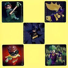 15 Lego Batman Large Stickers - Party Favors - Robin, Batgirl Joker, Riddler