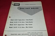 Ford Tractor 540 Hay Baler Assembly Instructions Manual CHPA