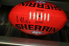 ESSENDON - ADAM COONEY HAND SIGNED SOFT TOUCH FOOTBALL  + PHOTO PROOF & C.O.A