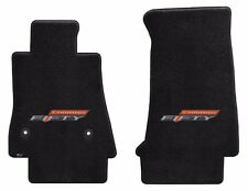 NEW! BLACK FLOOR MATS 2016-2017 Camaro Embroidered 50TH Fifty Anniversary Logo 2
