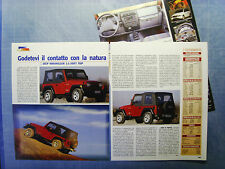 AUTO997-RITAGLIO/CLIPPING/NEWS-1997-JEEP WRANGLER 2.5 SOFT TOP- 3 fogli