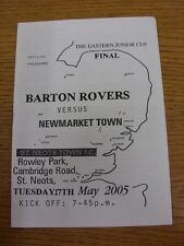 17/05/2005 Eastern Junior Cup Final: Barton Rovers Youth v Newmarket Town Youth