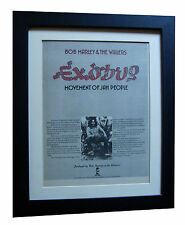 BOB MARLEY+Exodus+POSTER+AD+RARE ORIGINAL 1977+QUALITY FRAMED+FAST GLOBAL SHIP