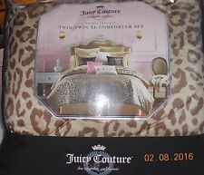 IOP JUICY COUTURE TWIN/TWIN XL 2pc COMFORTER SHAM SET ~ ANIMAL INSTINCT