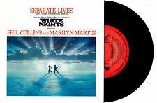 """PHIL COLLINS & MARILYN MARTIN - SEPARATE LIVES - 7"""" 45 VINYL RECORD PIC SLV 1985"""