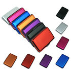 New Deluxe Metal Wallet Credit Card Holder Aluminum Case Protect RFID Scanning