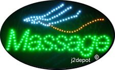 "US Seller Animated Massage Led Sign neon lighted. Video inside.  21""x13-1/2"""