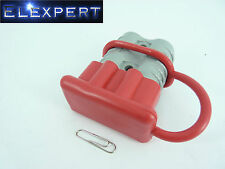 ANDERSON PLUG DUST COVER END CAP FOR SB 175 AMP CONNECTOR (RED RUBBER)