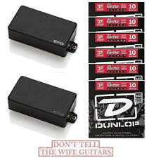 EMG 81 + 60 BLACK SET ( 6 SETS OF DUNLOP STRINGS & FREE WORLDWIDE SHIPPING )
