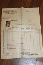 S5490: Rechnung Sonn Regenschirm Fabrik John Schmid Fabrik Wien 1916