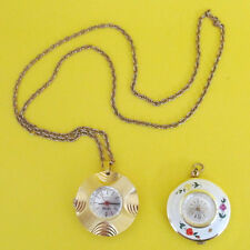 Vintage Pendant Style Nurse Watch Lot of 2 CARDOVA & NORDAM Gold tone