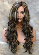 LONG spiral curly WIG Light Brown Mix Side skin top Hair 8-12-24 JSOB