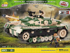 Cobi blocks Toys Sd.Kfz.167 Sturmgeschütz IV German gun Tank 2482 panzer
