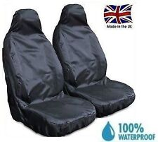 RENAULT TWINGO 07-ON PREMIUM HEAVY DUTY FRONT SEAT COVERS BLACK 1+1