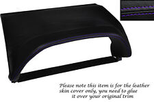 PURPLE STITCHING SPEEDO HOOD SKIN COVER FITS NISSAN X-TRAIL 01-04 PRE FACELIFT