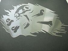 S20a5 SKULL BONES Burning Airbrush Stencil Mask Template Textile Paint Craft A5