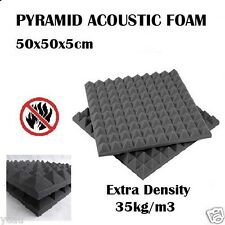 60x Studio Sound Absorption Acoustic Foam Panel Tile Treatment Pyramid 50x50x5cm