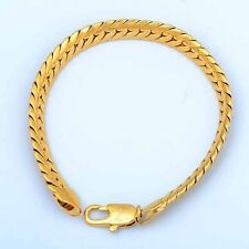 Wedding 9K Yellow Gold Filled Men's Wedding FashionCurb Chain Bracelets
