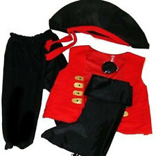 5pc. Pirate Boys Halloween Costume Ages 3 4 5 Dress Up