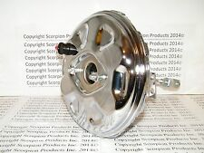 "GM Chrome Delco Power Brake Booster 11"" Chevelle Camaro Nova Power Disc Brakes"