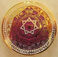 Dwarven Soul Geocoin - Lessons for Aurelia Edition - Runes - Pearl and Sparkle