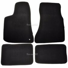 For 05-10 Dodge Charger Black Nylon Front&Rear Floor Mats Carpet