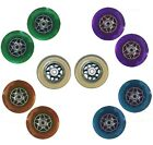 """Scooter Wheels Stunt Alloy Replacement Colour Rollers Skate 4"""" 100mm Moped Pair"""