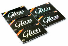 5 booklets x GLASS Clear Rolling paper size 1 1/4 - 100% Natural - 250 papers