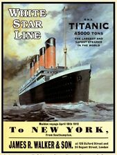 TITANIC, White Star Liner, RMS Ship/Boat, New York Small Metal/Tin Sign, Picture