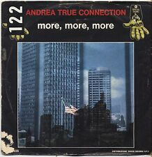 "ANDREA TRUE CONNECTION - More more more - VINYL 7"" 45 ITALY 1976 VG+/VG-"