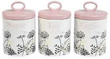 Vintage Keramik TEA COFFEE & SUGAR Dosen - 3er Set