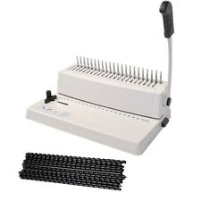 w/200 Combs 21-Hole 250 Sheets Paper Comb Punch Binder Binding Machine Scrapbook