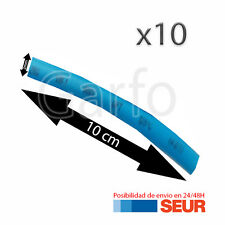 10X Tubo 10 cm Retractil Azul Cable 2 mm diametro aislador termoretractil