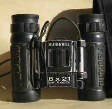 VTG Bushnell 8x21 132514 Powerview Binocular w/black case  says 378 Ft. at 1000