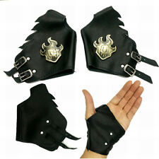 Anime Bleach Kurosaki Ichigo Bronze Leather Gloves Punk Cosplay Prop Gift 1 Pair