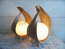 """2 Palmenblattlampen """"UBUD"""", natur, Nachttischlampe, Ambiente, Design,Büro"""