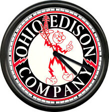 Reddy Kilowatt Electrician Utility Ohio Edison Company Wire Tool Sign Wall Clock
