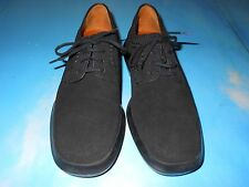 TOD'S BLACK LEATHER OXFORD SHOES, SIZE 35.5 US-5.5 ITALY EUC